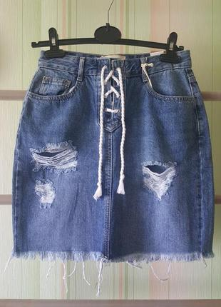 Reserved джинсовая юбка