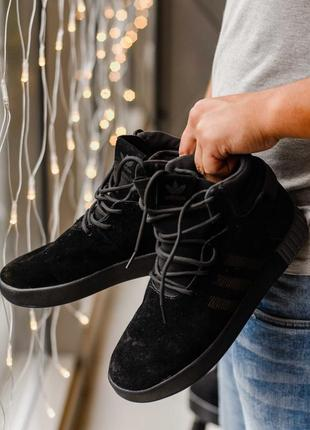Кроссовки мужские adidas tubular черные 40-44 размеры