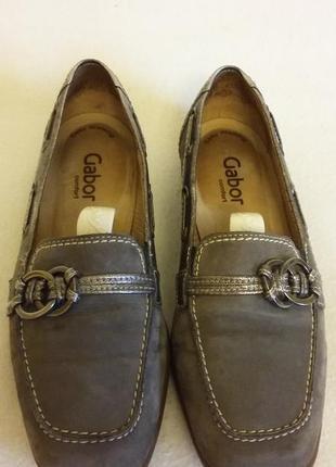 Кожаные фирменные туфли, мокасины gabor comfort ( гермагия) p.37 стелька 24 см