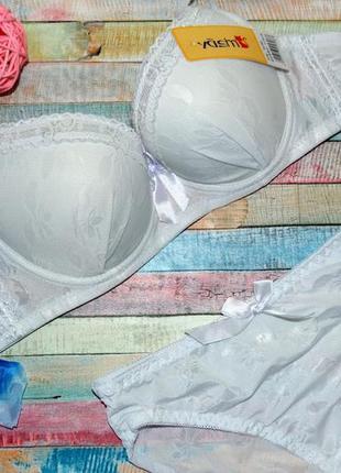 25168-01 классический белый комплект нижнего белья, 80а-в