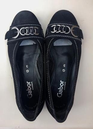 Кожаные балетки, туфли gabor