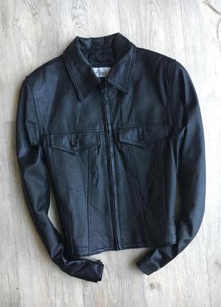 Кожаная куртка, 100% натуральная кожа, l