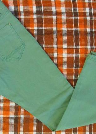 Mayoral джинсы узкие на девочку зеленые джегинсы лосины размер 122 см 7 лет