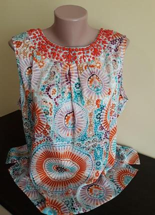Брендовая блузка,блуза,майка 56/58р.