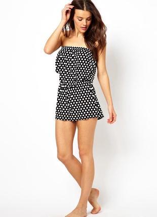 Пижама\ромпер в горошек с открытыми плечами и воланчиками\ бренд marietta