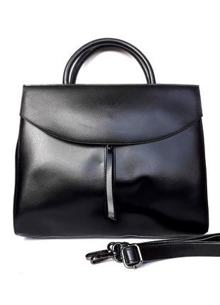 """Женская кожаная сумка """"classic"""" черная"""