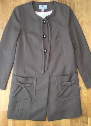 Женское пальто свободного кроя бойфренд прямок мини миди