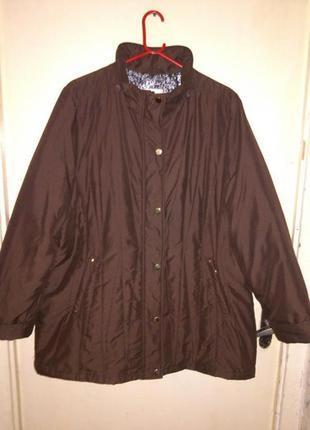 Демисезонная,легчайшая,утепленная,коричн., куртка бол. разм, сlassic m&s и 90%батал