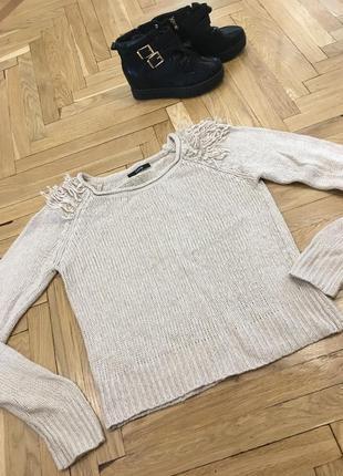 Тёплый шерстяной свитер свитерок george шерсть акрил