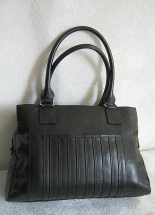 Marks&spencer сумка кожаная деловая портфель саквояж 36,5х26х7,5 натуральная кожа