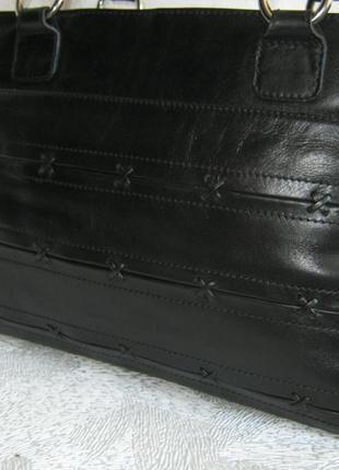 Marks&spencer collection сумка кожаная деловая портфель саквояж 37х26х7,5 натуральная кожа