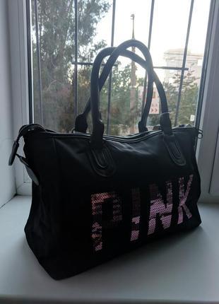 Стильная новая дорожная  спортивная повседневная женская сумка pink