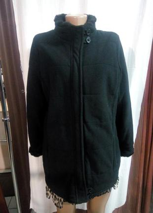 Флисовая теплая куртка размер uk 16 наш 50