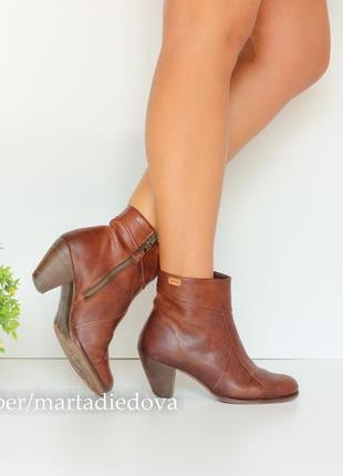 Кожаные ботинки ботильоны полусапожки, натуральная кржа, бренд camper оригинал