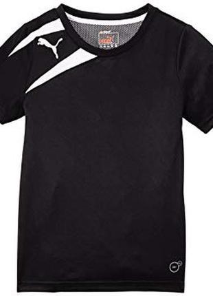 Чёрная спортивная футболка puma оригинал на мальчика 14 лет рост 164 см