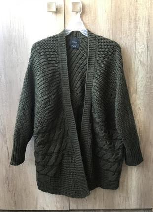 Крутой кардиган oversize zara knit