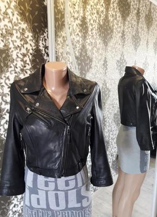 Куртка-косуха натуральная кожа укороченная