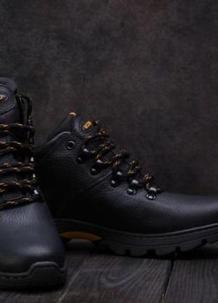 Ecco фирменные мужские кожаные зимние ботинки на меху 40.41.42.43.44, 45 р-р