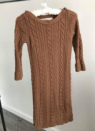 Вязаное платье zara