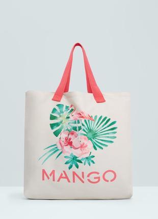 Сумка пляжная mango