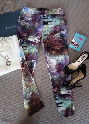 Безумно стильные брюки/штаны zara/чинос размер xs