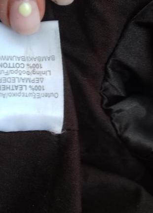 Приталенная короткая кожаная куртка 100%кожа4 фото