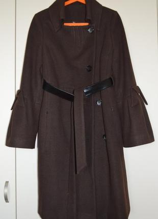 Пальто кашемировое черный шоколад.