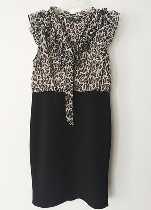 Шикарное платье в леопардовый принт