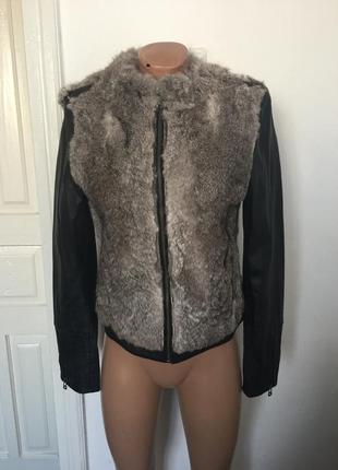 Курточка натуральная кожа и натуральний кролик