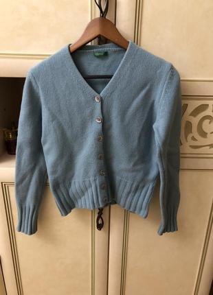 Шерстяной кардиган свитер benetton