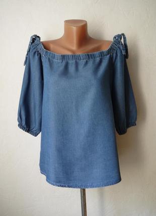 Блуза с открытыми плечами -лиоцел