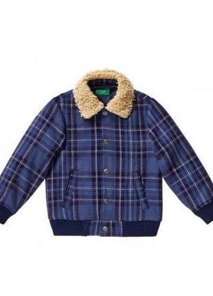 Распродажа новая демисезонная куртка в клетку, united colors of benetton, 032590584