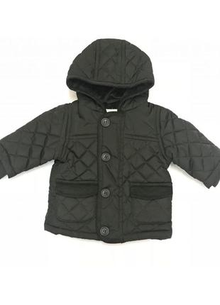 Новая демисезонная темно-зеленая куртка на флисовой подкладке, george, 0355407