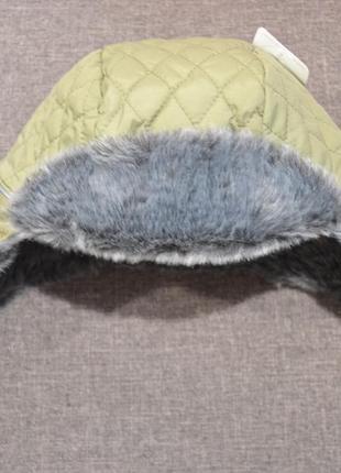 Тёплая шапка-ушанка mothercare на мальчика 1-3 года