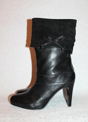 Стильные кожаные сапоги 41 размер 27 см стелька