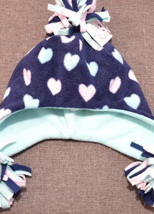 Тёплый флисовый набор шапка+шарф+перчатки mothercare на девочку 1-3 года