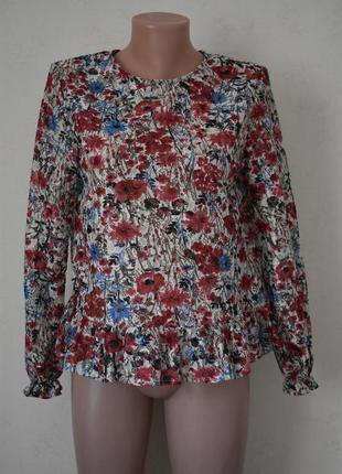 Новая кружевная блуза с принтом