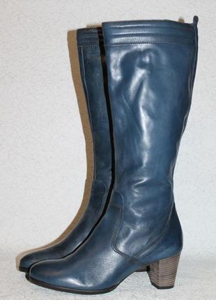 Роскошные кожаные сапоги ecco 38 размер 25 см стелька