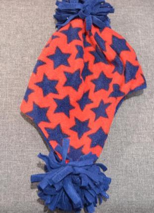 Тёплая флисовая шапка mothercare на мальчика 1-3 года