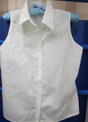 Белая классическая блузка-рубашка