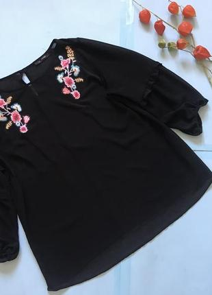 Воздушная блуза george с вышивкой р 16