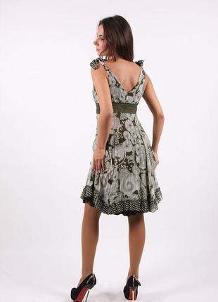 Платье -сарафан с бантами на плечах trend