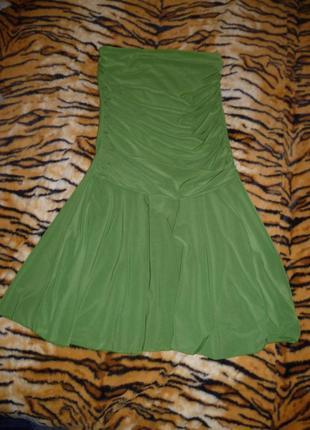 1109ed469ce Зеленое платье без бретелей