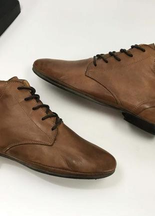 Ботинки roberto santi коричневые 39 размер натуральная кожа