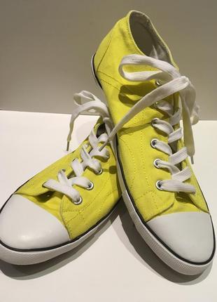 Желтые кеды doodogs размер 40 стелька 25,5 см