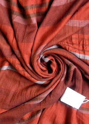 Большой уютный палантин шарф цвета марсала, франция,-188х96см- новый, с биркой.