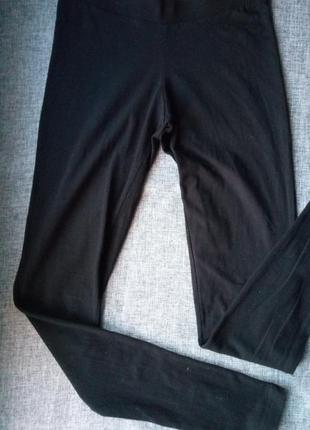 Классические черные лосины леггинсы спортивные штаны