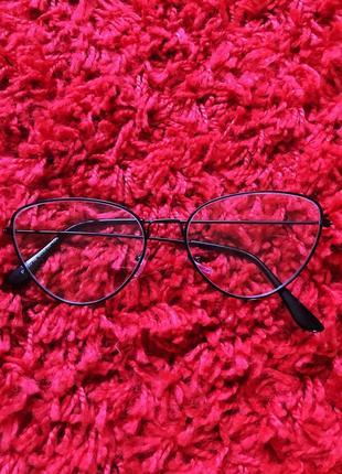 Новие прозрачные имиджевые очки, окуляри черние