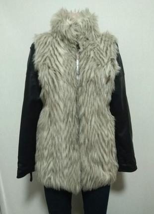 Меховая куртка zebra р.s