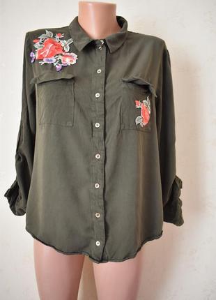 Блуза -рубашка с вышивкой